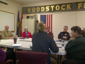 Woodstock's Emergency Committee met this morning to plan for Hurricane Sandy