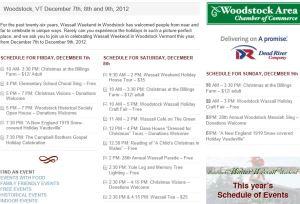 Wassail Schedule