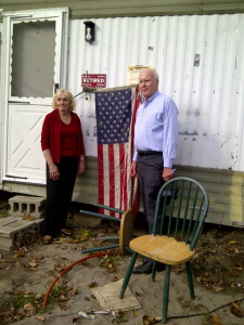 Sen. Patrick Leahy and Marcelle Leahy Visited Woodstock after Tropical Storm Irene Flooding